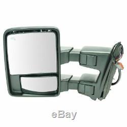 Tow Heat Mirror Signal Électrique Pliant Côté Conducteur Gauche Pour Telescoping Super Duty