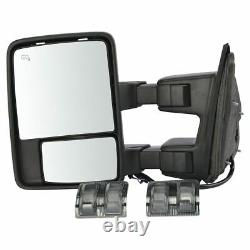 Towing Side View Mirror Power Folding Heated Smoked Signal Memory Left For Ford