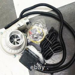 Universal Electric Turbo Supercharger Kit Filtre À Air D'admission Protection Moteur