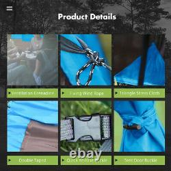 Us 8-10 Person Super Big Camping Tente Waterproof Outdoor Hiking Family