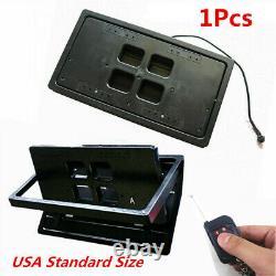 Us Remote Control Flip Flipper Retractable Number Swap Turn Blinds Plaque D'immatriculation
