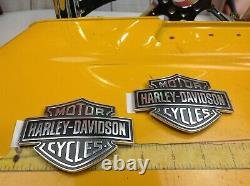 Véritable Harley Softail Sportster Dyna Touring Fuel Gas Tank Set Emblèmes Badges