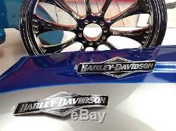 Véritable Harley Touring Skull Willie G Gas Réservoir De Carburant Set Emblèmes Badges