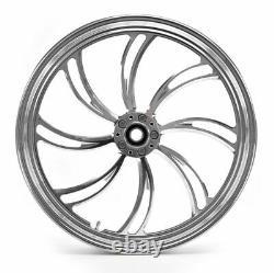 Vernis Vortex 21 2.15 Billet Roue Avant Rim Harley Touring Double Disque Personnalisé