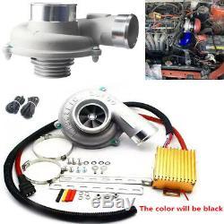 Voiture Électrique Turbo Supercharger Kit Turbocompresseur Filtre À Air D'admission Fuel Saver