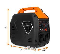 Wen 56203i Super Silencieux 2000 Watts Générateur Inverter Portable Avec Fermeture De Combustible