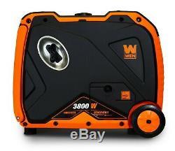 Wen 56380i Super Silencieux 3800 Watts Générateur Inverter Portable Avec Arrêt De Carburant